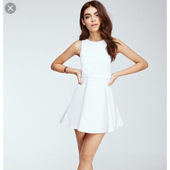 formal forever 21 white dress